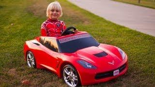 Unboxing The New Power Wheels 2014 Corvette Stingray!