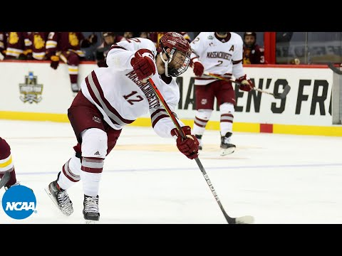 UMass' Garrett Wait scores OT goal to beat Minnesota Duluth in Frozen Four