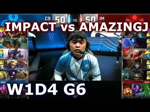 IMPACT VS AMAZINGJ Focus Stream with Zig. Cloud 9 vs I May group W1D4 Lol  esports S6 Worlds.