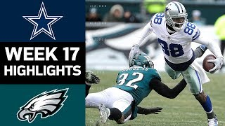 Cowboys vs. Eagles | NFL Week 17 Game Highlights