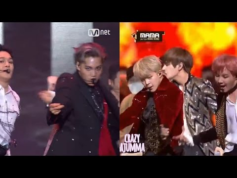 BTS vs EXO ! | Dance Battle | MAMA 2016
