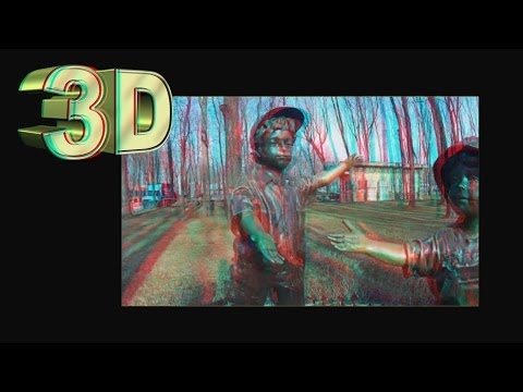 3D VIDEO . Park Sculptures in 3D ( part 2 )
