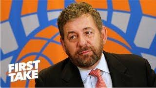 NBA should make James Dolan sell the Knicks after fan run in - Max Kellerman | First Take