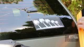 How To Install The Palm Tree Family Stickers