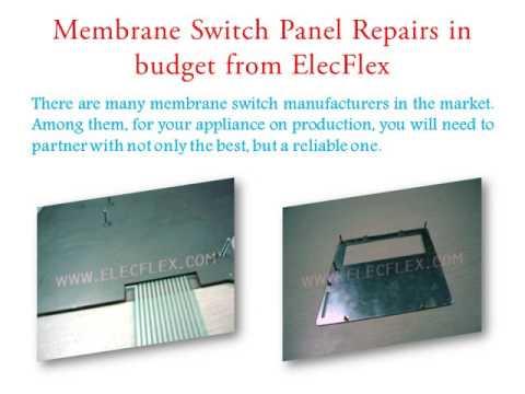 Membrane Switch Panel Repairs in budget - elecflex.com