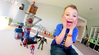 Father & Son GET MASSIVE PLAYSET! SpiderMan Tower!
