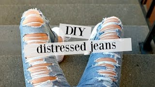 DIY: how to distress jeans | sew&tell