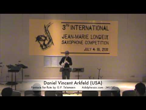 3rd JMLISC: Daniel Vincent Arkfeld (USA) Fantasie for flute by G.P. Telemann
