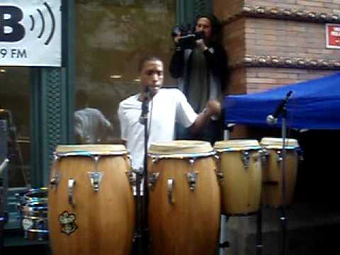 Percussion Section From Wale's Performance at Baruch