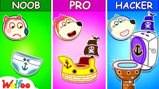 Wolfoo Makes DIY Pirate Potty - Kids Stories about Potty Training With Wolfoo   Wolfoo Family