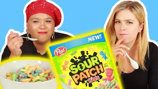 People Try The New Sour Patch Kids Cereal