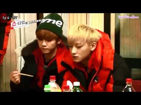 EXO Luhan Eating Compilation in EXO's Showtime
