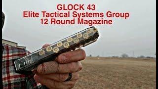 Glock 43 ETS 12 Round Magazine