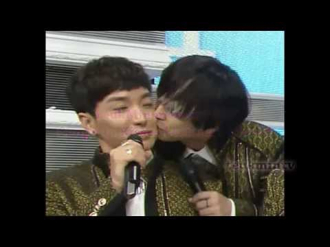 Teukmin moment #67 Sungmin kissing Leeteuk's Cheek [ENG SUB] 2014 MAMACITA PROMOS [140831]