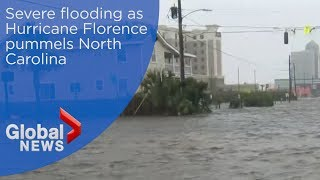 Hurricane Florence: Storm brings massive flooding to North Carolina
