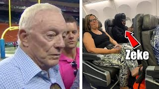 "Jerry Jones says,  ""Zeke Who"" Upsetting Ezekiel Elliott! Zeke Spotted on Flight to Dallas!"