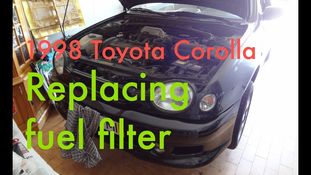 step by step replacing fuel filter on a 1997 1999 toyota. Black Bedroom Furniture Sets. Home Design Ideas