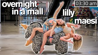 24 HOUR CHALLENGE IN A MALL ft/Dance Moms Lilly, Maesi & Abby Lee