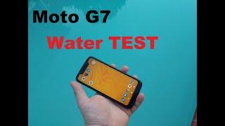 Motorola Moto G7 play  water test? water resistant?