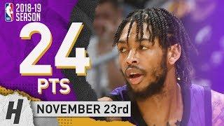 Brandon Ingram Full Highlights Lakers vs Jazz 2018.11.23 - 24 Pts, 6 Rebounds!