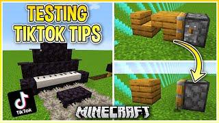 Trying Viral TikTok Minecraft Hacks, Tips & Tricks!
