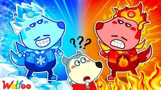 Hot Dad vs Cold Dad with Wolfoo - Kids Stories About Wolfoo Family   Wolfoo Family Kids Cartoon