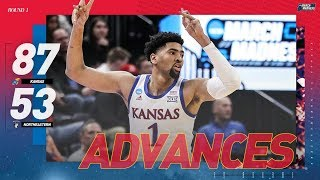 Kansas vs. Northeastern: First round NCAA tournament extended highlights