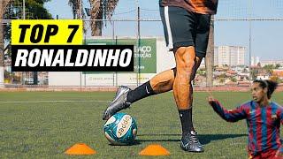 TOP 7 MELHORES DRIBLES DO RONALDINHO | APRENDA FAZER O DRIBLE DO RONALDINHO | TUTORIAL DE DRIBLE