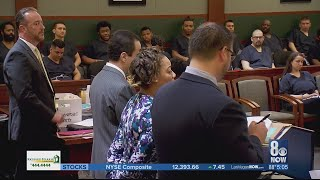 Woman accused of pushing elderly man from bus enters not guilty plea