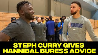 Steph Curry gives Hannibal Buress amazing advice for the NBA celeb game.