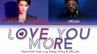 Steve Aoki feat. Lay Zhang Yixing (EXO) & will.i.am - Love You More (Color Coded Lyrics /Eng)