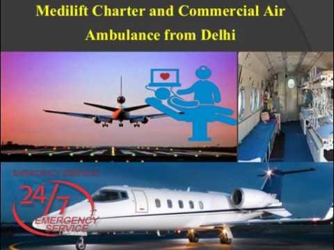 Medilift Air Ambulance Services in Delhi Presentation