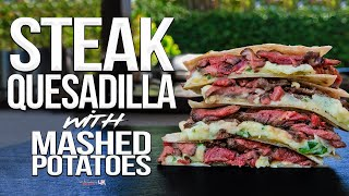 The Best Steak Quesadilla   SAM THE COOKING GUY 4K