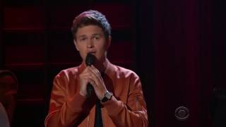 Ansel Elgort singing Easy
