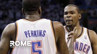 Kendrick Perkins Lands Haymakers In Twitter Feud With Durant | The Jim Rome Show