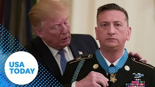 President Donald Trump issues the medal of honor   USA TODAY