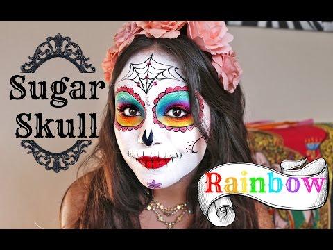 Baixar Rainbow Sugar Skull Tutorial for Halloween