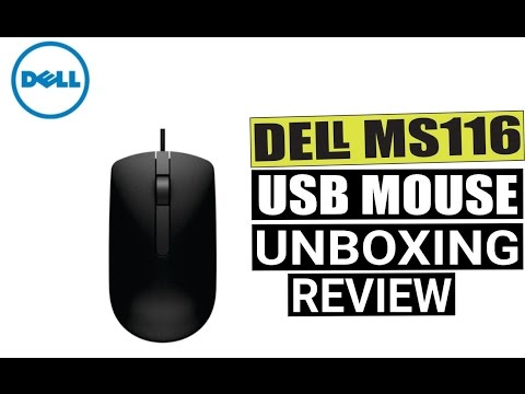 video Dell MS116 1000DPI USB Wired Optical Mouse