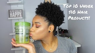 Top 10 Natural Hair Products Under $10