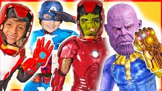 Avengers Superhero Toys Giant Smash Surprise Boxes learn colors pretend play kids video costumes