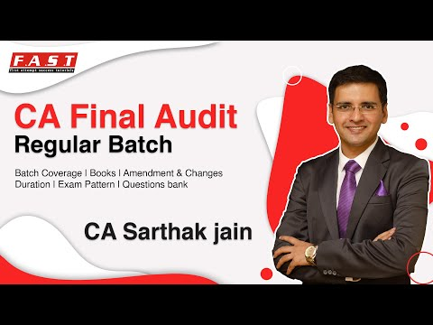 video ADVANCED AUDITING AND PROFESSIONAL ETHICS By CA SARTHAK JAIN CA FINAL Full Courses
