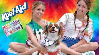 Kool-Aid vs Tie Dye Challenge | DIY | Quinn Sisters w/Toby