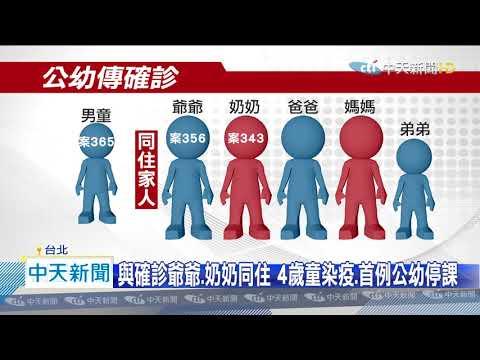 20200406中天新聞 首例公幼確診停課!4歲童發病 121師生隔離、檢疫