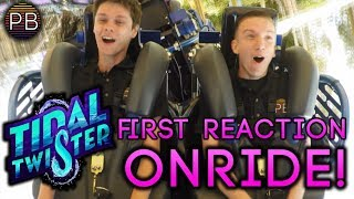 Tidal Twister First Ride Reaction! | Rider-cam POV on SeaWorld San Diego's New Ride!