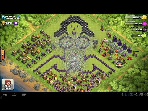 Clash of clans th3 farming base compilation maxed out musica movil