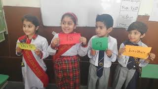 Sentence making activity junior 1 T of The Knowledge World School commisioner Road Gujranwala