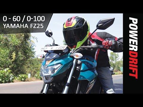 Yamaha FZ25 Top Speed Test : Surprisingly Quick! : PowerDrift