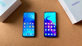 Honor V20 vs Huawei Nova 4 - Punch Hole Phone Battle!