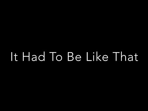 Jeff Oster - It Had To Be Like That