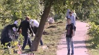 Посадка лип в Расторгуевском парке